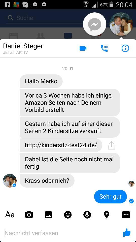 FB Chat mit Marko Slusarek